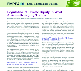 Regulation of Private Equity in West Africa's Emerging Trends