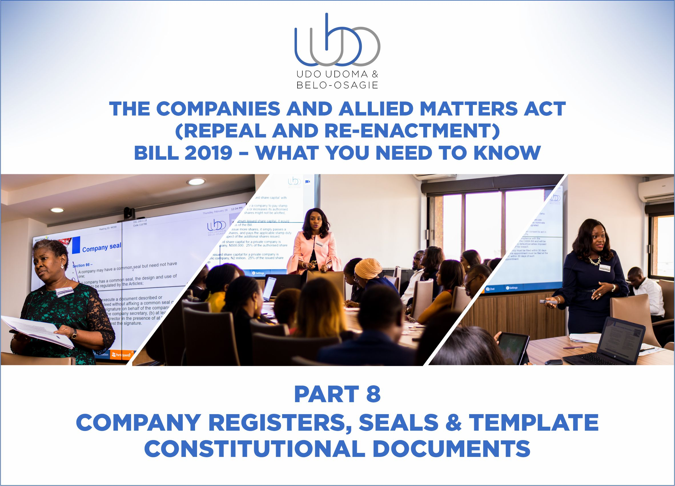 THE COMPANIES AND ALLIED MATTERS (REPEAL AND RE-ENACTMENT BILL) 2018 - PART 8