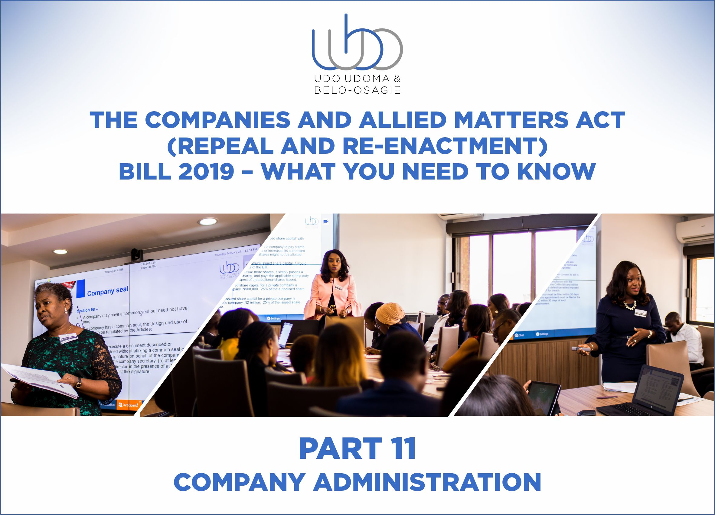 THE COMPANIES AND ALLIED MATTERS (REPEAL AND RE-ENACTMENT BILL) 2018 – PART 11