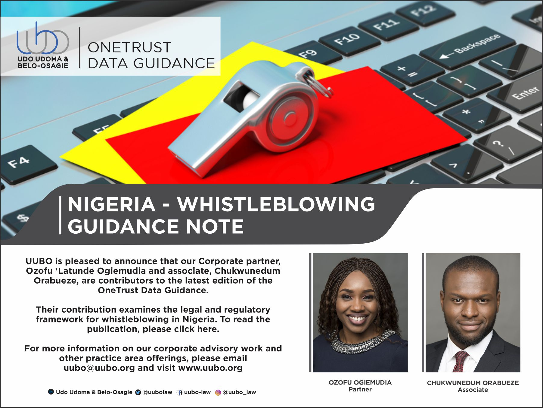 NIGERIA - WHISTLEBLOWING GUIDANCE NOTE