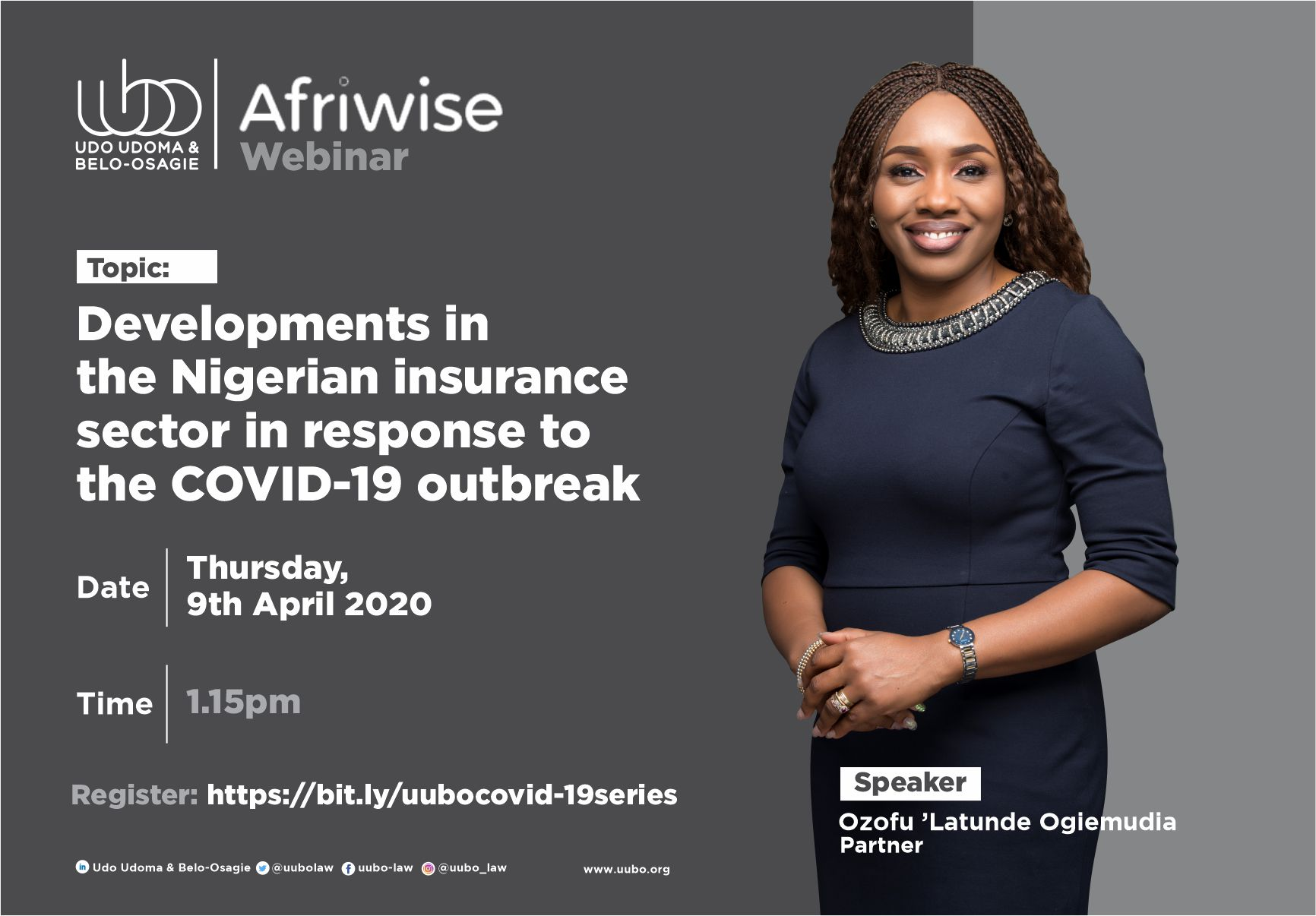 Webinar: Developments in the Nigerian insurance sector in response to the COVID-19 outbreak