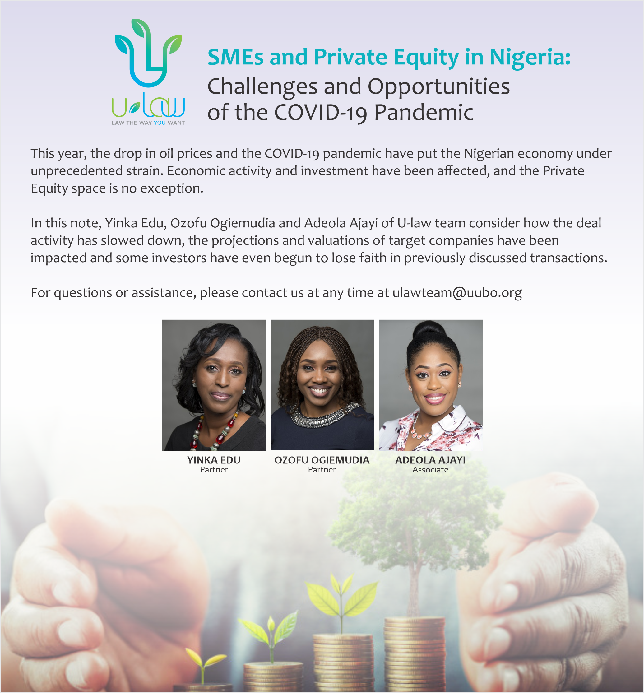SMES AND PRIVATE EQUITY IN NIGERIA - CHALLENGES AND OPPORTUNITIES OF THE COVID-19 PANDEMIC