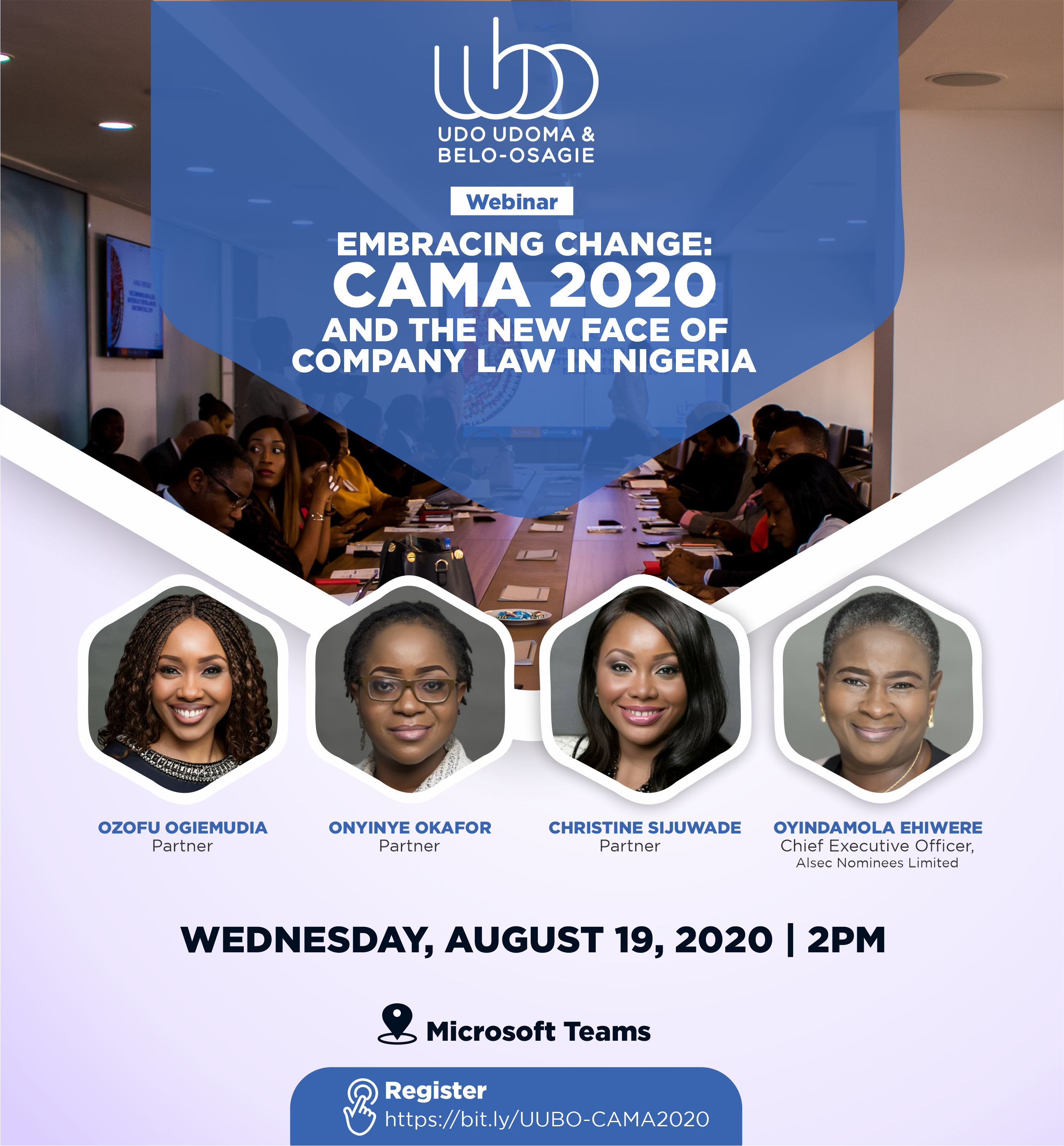 WEBINAR INVITATION - EMBRACING CHANGE: CAMA 2020 AND THE NEW FACE OF COMPANY LAW IN NIGERIA